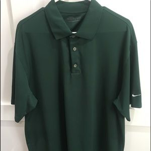NIKE GOLF - FIT DRY - DARK GREEN SZ XL POLO